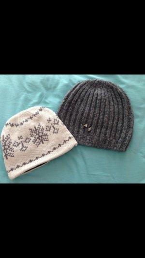 Grau Woll Mütze Beanie