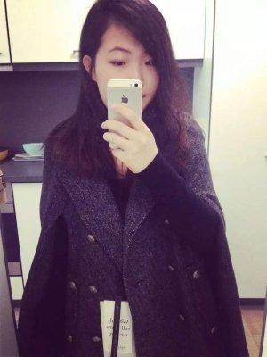 Grau Wool Mantel von Sandro