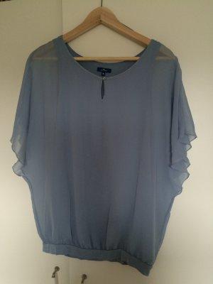 graublaue/hellblaue Bluse Chiffon von Tom Tailor Gr, M