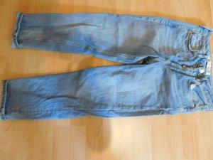 Graublaue Mom Jeans neu