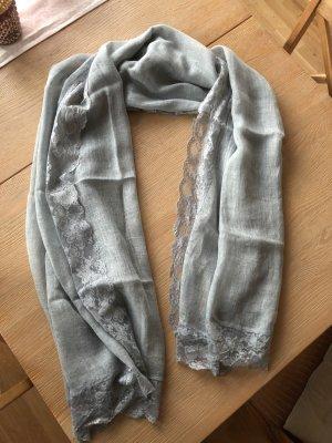 Écharpe gris ardoise
