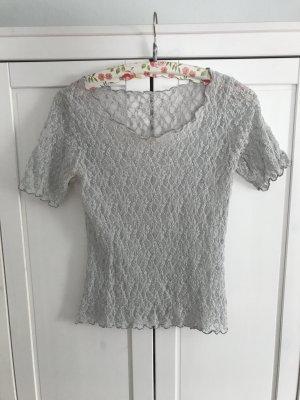 Crochet Top pale blue
