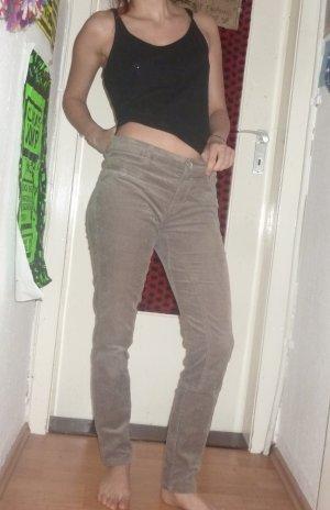 Yessica Pantalone di velluto a coste marrone chiaro-marrone-grigio Cotone