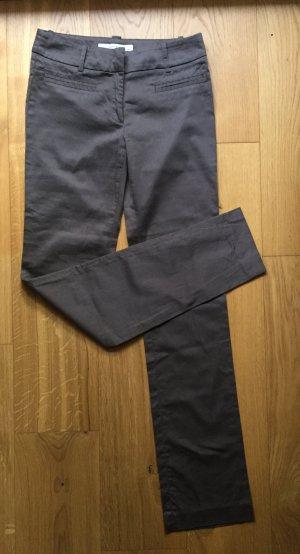 Graubraune Stoffhose / Röhrenhose / Businesshose NEU