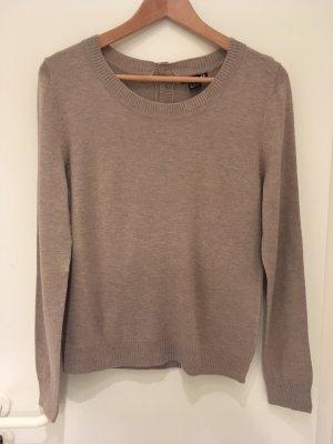 Graubrauner Pullover mit Alpaka von H&M in Größe 38 (M)