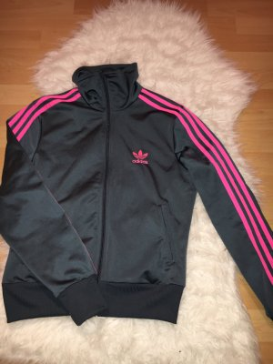 Graue Adidas Stoff Jacke