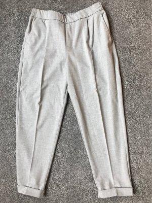 Pull & Bear Pantalón de pinza gris claro
