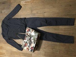 Graue ASOS High Waist Jeans (28/32) Baumwoll-und Stretchanteil