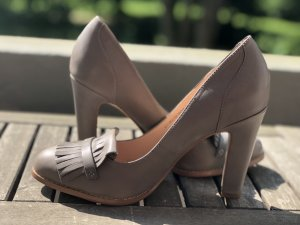 Graue/Beige Pumps Gr.42