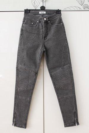 Edited Jeans de moto gris-gris foncé