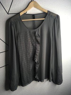 Graue Bluse