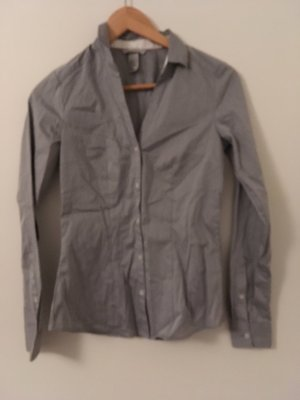 H&M Leather Blouse grey