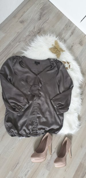 Minus Ruche blouse grijs