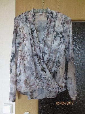 Graue Bluse Gr. 38 H&M Blumenmuster neu