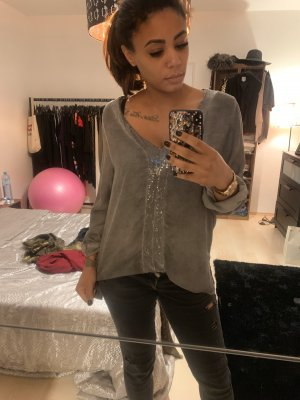 Made in Italy Oversized Blouse grey viscose