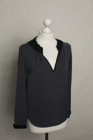 Zara Camicetta a blusa nero-antracite