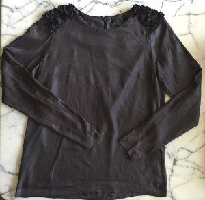 Graue Bluse mit verspielten Details NEU