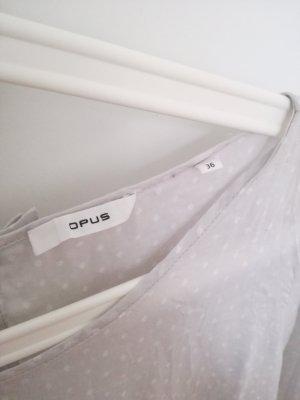 graue Bluse von Opus in Gr.36 mit weissen Punkten - wie neu