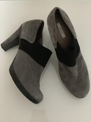 Graue Business Schuhe Stiefelette