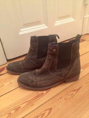Hilfiger Denim Chelsea Boot gris foncé cuir