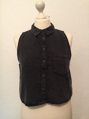 Graue Crop-Bluse von H&M