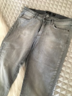 Graue Designer Jeans von DEYK im cropped Style