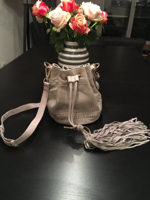 H&M Premium Pouch Bag grey leather
