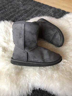 Tally Weijl Slouch Boots grey-dark grey