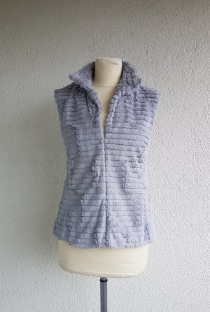 Adagio Fur vest silver-colored-light grey polyester
