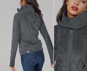 graue fleecejacke von bench (samt/nicki)