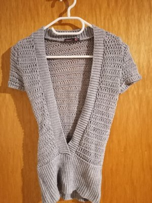 Knitted Vest silver-colored