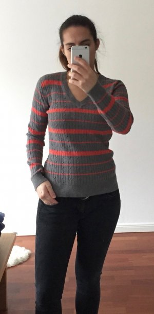 Graue gestrickter Pullover von Tommy Hilfiger, Gr. S, Baumwolle