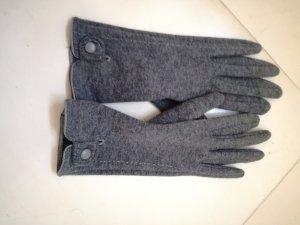 Gants doublés gris