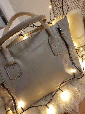 Graue Handtasche mit Reißverschluss