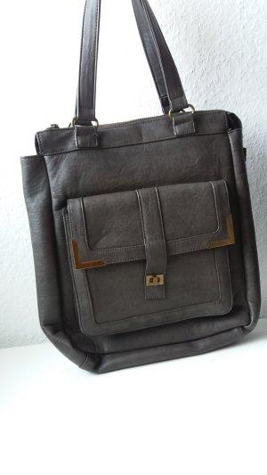 graue Handtasche/ Shopper