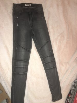 Graue High-Waist Jeans