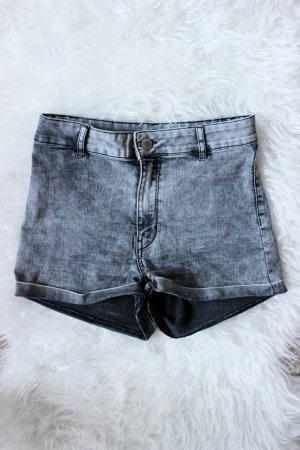 Graue High Waist Shorts H&M 36 38 S Blogger