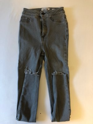 New Look Hoge taille jeans grijs-lichtgrijs