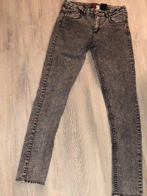 H&M Hoge taille jeans grijs