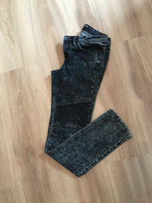 Pantalon cigarette gris-gris foncé