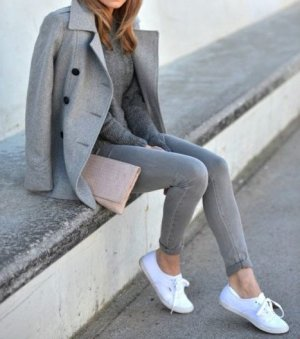 H&M Low Rise Jeans grey