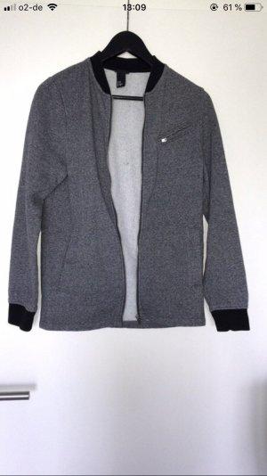 H&M Chaqueta estilo universitario negro-gris