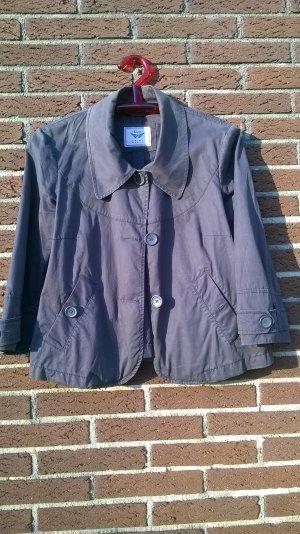Graue Jacke in A-Form von Esprit, Größe 42