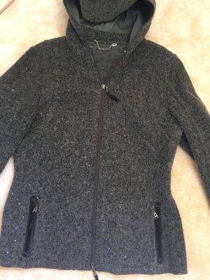 Graue Jacke mit Pailletten, von NVSCO, Größe 38