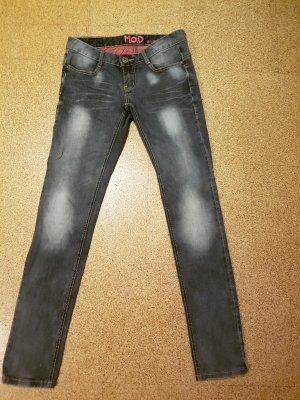 M.O.D. Pantalón de tubo gris-gris oscuro