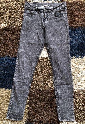 H&M pantalón de cintura baja gris