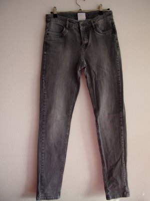 Apriori Tube Jeans silver-colored cotton