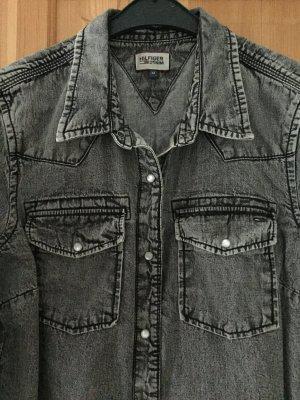 Graue Jeans Bluse von TommyHilfiger in Größe M