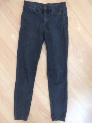 Graue Jeans Calzedonia 36 high waste Röhre