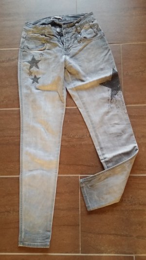 Tredy Pantalon cigarette gris clair-gris anthracite